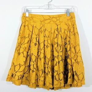 LOFT | Mustard Lace Skirt